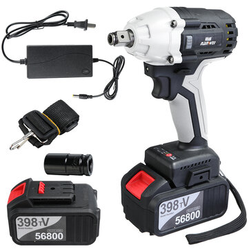 NANWEI 380N.M Brushless Electric Impact Wrench Adjustable Speed Regulation with 4.0_6.0Ah Lithium Battery and Charger