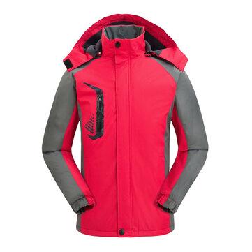 Women Outdoor Fleece Thicken Waterproof Windproof Sport Mountaineer Jackets