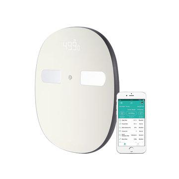Digoo DG-SO38H 180Kg Inteligente LED Bluetooth Monitor de Composición de Grande Báscula de Grasa Corporal Get Fit App