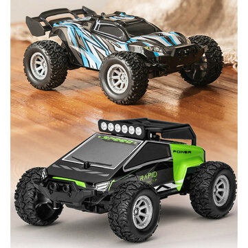 S638 1/32 2.4G 4CH Full Scale Mini RC Car Dual Motor Off-Road Vehicles Kids Child Toys with LED Light Model