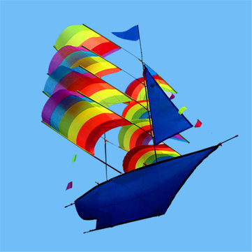 """Huge 37""""3D Stereo Sailboat Kite Big Size Flying Free Shipping Outdoor Toy"""