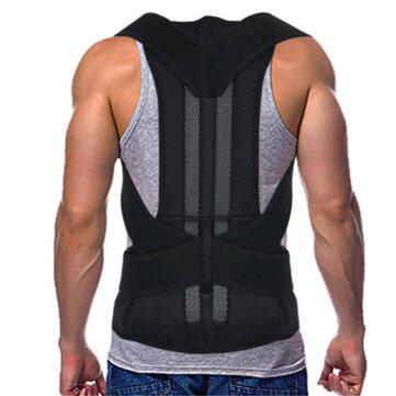 Supporto per la schiena regolabile Cintura Spallaccio per la schiena posturale Supporto per schiena lombare Supporto per colonna vertebrale