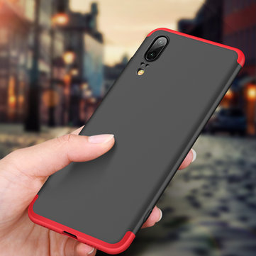 Bakeey™ 3 in 1 Double Dip 360° Full Hard PC Cover Protective Case For Huawei P20