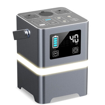Portable Power Station 220V 200W 625000mAh Wireless Charging LED Lighting Camping Solar Generator Emergency Backup Battery for Outdoor Camping for sale in Litecoin with Fast and Free Shipping on Gipsybee.com