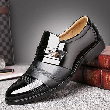 पुरुषों आरामदायक चमड़े के व्यापार फीता औपचारिक जूते