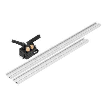 Drillpro 600/800/1000 / 1220mm Aleación de aluminio T-Track Carpintería en T Ranura en inglete con Escala / Tope en inglete
