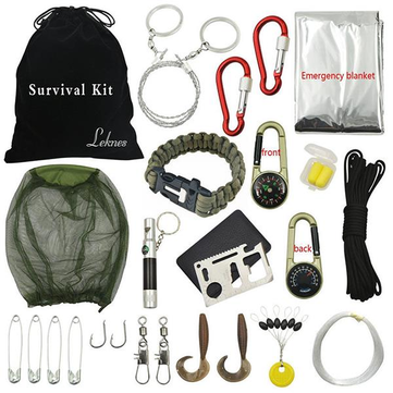 Outdoor Hiking Camping Emergency Survival Tool Set First Aid Equipment Gear Kit