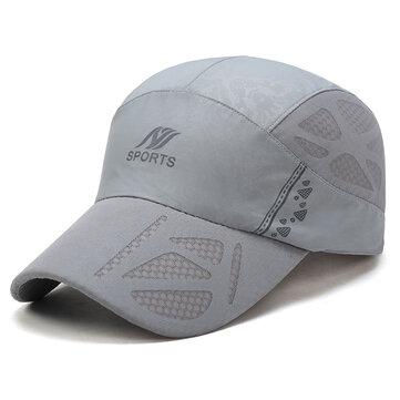 यूनिसेक्स मेन्स पतली सांस त्वरित सूखी आउटडोर टोपी सनशेड मेष बेसबॉल कैप्स