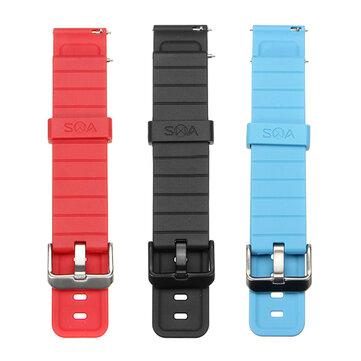 20 मिमी चौड़ाई घड़ी बैंड ब्लू लाल दो रंग टीपीयू सामग्री घड़ी पट्टा