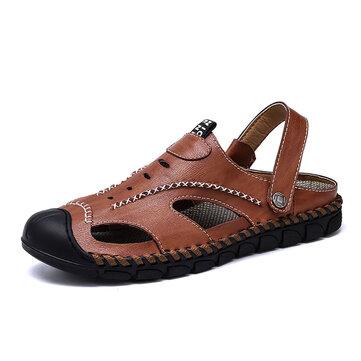 Giày da bò nam khâu tay chống trơn trượt