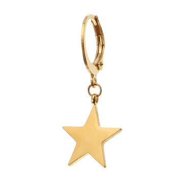 1Pc Titanium Steel Simple Style Star Pendant Ear Stud Fashion Earrings for Men