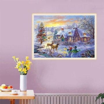 5D Diament Malarstwo Christmas Deer Haft Zestawy do haftu Pełna wiertła Cross Stitch