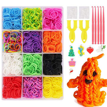 6800Pcs 22 Color Rubber Rainbows Loom Bands Set DIY Bracelet Silicone Elastic Rainbow Weave Loom Toys for sale in Bitcoin, Litecoin, Ethereum, Bitcoin Cash with the best price and Free Shipping on Gipsybee.com