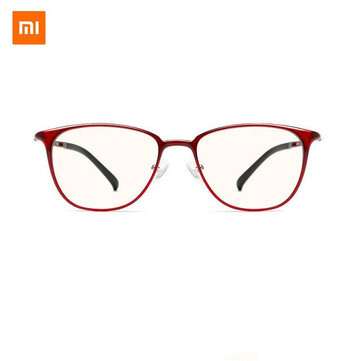 Xiaomi Mijia Anti Blue Glasses UV Fatigue Proof Eye Protector Xiaomi Mi Home 40 pencent Anti Blue Ray Protective Goggles Glasses RED