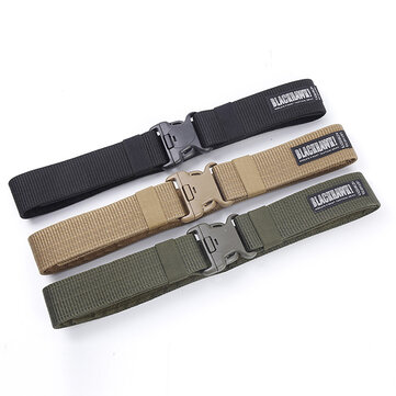 130CM Men's Weaving Plate Buckle Military Army Tactical Belt Outdoors Sports Waistband