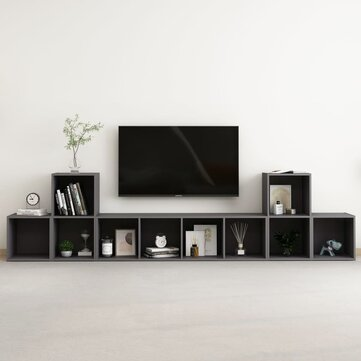 How can I buy 5 Piece TV Cabinet Set Gray Chipboard with Bitcoin
