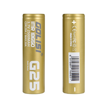 2Pcs GOLISI G25 2500mAh 20A CDR High Brain Powerful IMR 18650 Li-ion Rechargeable Battery With Storage Case