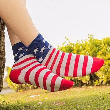 Buy Unisex Tube Socks Casual Crew Ankle American USA Star Flag Stripes Glory Socks with Litecoins with Free Shipping on Gipsybee.com