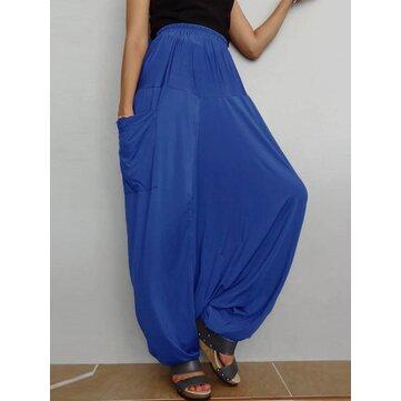 S-5XL מקרית לנשים מכנסיים צבעוניים