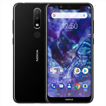 NOKIA X5 5.86 inch Android 8.1 Fingerprint 3GB RAM 32GB ROM Helio P60 Octa Core 4G Smartphone