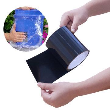 KCASA Super Strong PVC Waterproof Stop Leaks Seal Repair Kitchen Tape Performance Self Fix Tape Fiber Fix Adhesive Flex Tape Waterproof Tape