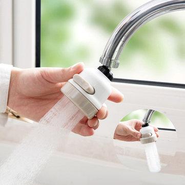 360 Dispositivo de Filtro de Água de Torneira Rotativo Booster 3 Modos de Comutação de Poupança de Água de Alta Pressão Kit Pulverizador Cabeça Torneiras Cozinha Banheiro Acessórios