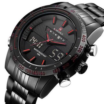 NAVIFORCE NF9024 Military Dual Display Week Date Men Wrist Watch