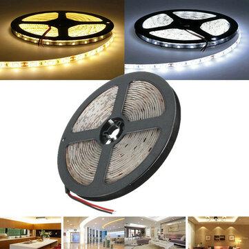 5M Waterproof White/Warm White SMD 5730 300 LED Flexible Strip Tape Light DC12V