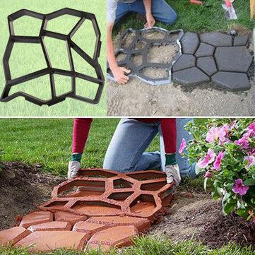Stampo di plastica del creatore del percorso di DIY del giardino che pavimenta manualmente il cemento ausiliario della muffa del mattone della strada di pietra del cortile Strumenti