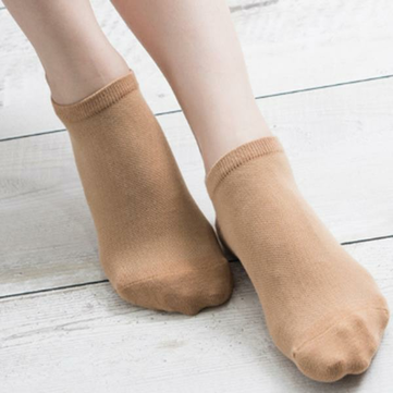 Women Cotton Solid Short Socks Soft Breathable Mesh Casual Invisible Boat Socks