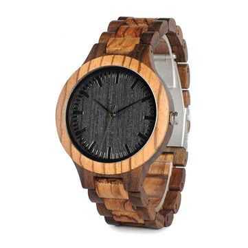 BOBO BIRD WD30 Wooden Watch Black Dial Display Unisex Quartz Wrist Watch