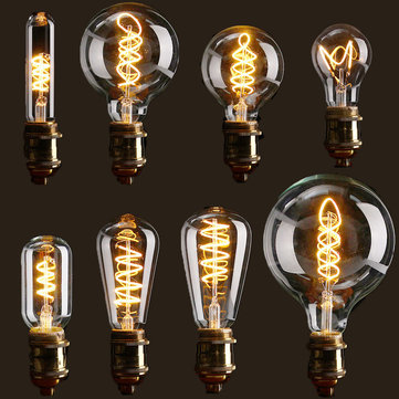 E27 Dimmable COB LED Vintage Retro Industrial Edison Lamp Indoor Lighting Filament Light Bulb AC110V