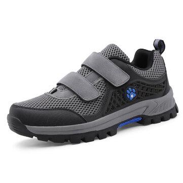 पुरुष सांस लेने योग्य मेष हुक लूप एथलेटिक जूते आउटडोर लंबी पैदल यात्रा खेल जूते स्नीकर्स