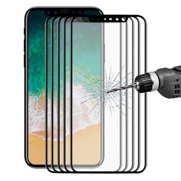 5 Packs Bakeey 3D Soft Edge Carbon Fiber Tempered Glass Beskyttelsesfilm til iPhone XS / X
