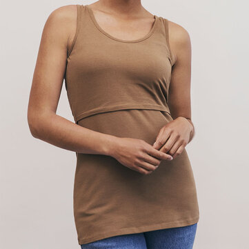 How can I buy Summer Clothing Solid Color Sleeveless Nursing Tank Tops For Women with Bitcoin