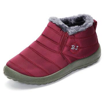 נעליים BJ נעליים צמר חם בטנה שטוח נעלי שלג הקרסול לנשים