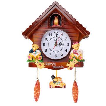 Antique Wooden Cuckoo Wall Clock Bird Time Bell Swing Alarm Watch Wall Home Decor Sale Banggood Com