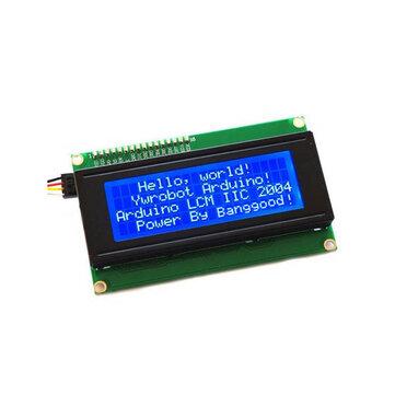 3 Adet IIC I2C 2004 204 20 x 4 Karakter LCD Ekran Modülü Mavi Geekcreit için Arduino - Resmi Arduino panoları ile çalışan ürünler