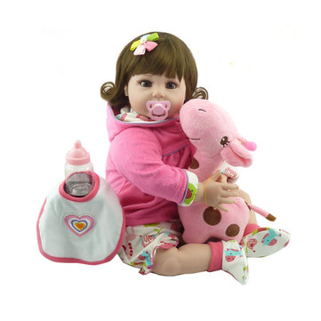 NPK Doll 22'' Reborn Silicone Handmade Lifelike Realistic Newborn Baby Toy For Girls Birthday