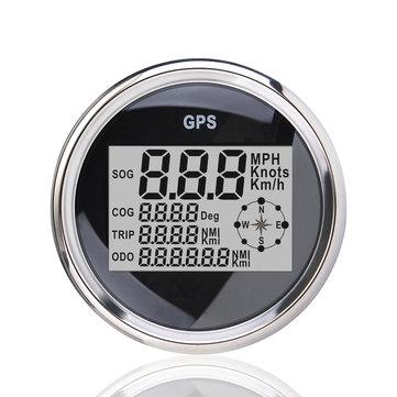 85mm GPS Vanntett Digital Speedometer Odometer Gauge