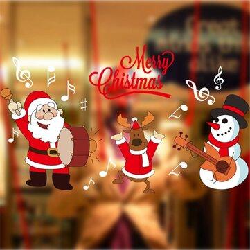 DIY Giáng sinh Dán tường Trang trí nội thất Giáng sinh Santa Claus Cửa sổ Kính trang trí Tường Decal
