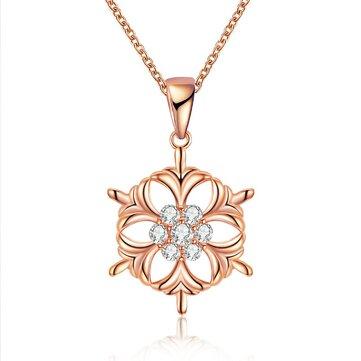 INALIS Fashion Snowflake Colgante Necklace Regalo de navidad para Mujer Niña