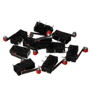 50Pcs KW12-3 Micro Limit Switch With Roller Lever Open/Close Switch 5A 125V