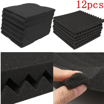 $15.99 for 12 Packs Soundproofing Acoustic Studio Wedge Foam Tiles Wall Panels
