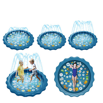 67inch Water Play Pad Swimming Air Mattress Sprinkler Games Water Mat Toys for 18 Month Up Baby