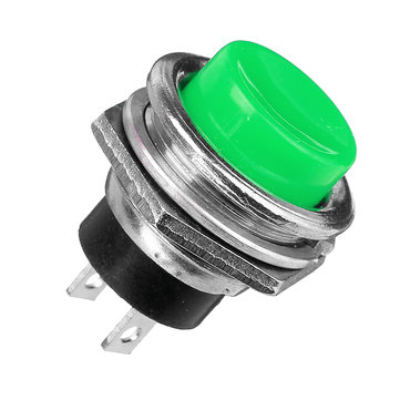 5Pcs 3A 125V Momentary Push Button Switch OFF-ON Horn Green Plastic