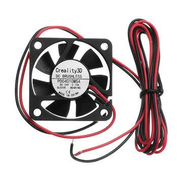 Creality 3D® 40 * 40 * 10mm 24V Haute Vitesse DC Brushless Ventilateur De Refroidissement 4010 Pour Imprimante 3D Ender-3