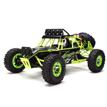 WLtoys 12427 2.4G 1/12 4WD क्रॉलर आरसी कार एलईडी लाइट के साथ