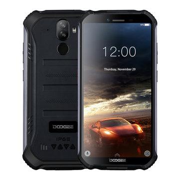 DOOGEE S40 5.5 Inch IP68 IP69K Waterproof NFC Android 9.0 4650mAh 3GB RAM 32GB ROM MT6739 Quad Core 4G Smartphone