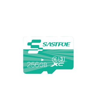 SASTFOE Green Edition 256GB U3 Class 10 TF Micro Memory Card for Digital Camera MP3 TV Box Smartphone